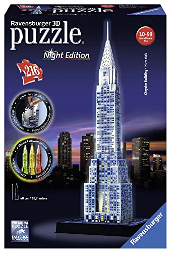 Ravensburger Chrysler Building - Night Edition, 216pc 3D Jigsaw Puzzle
