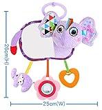 Gperw Kleinkindspielzeug Kinder Infant Lovely Elephant Roll Hand Greifen Spiegel Spielzeug Bunte Sicherheit Spiegel Geschenk