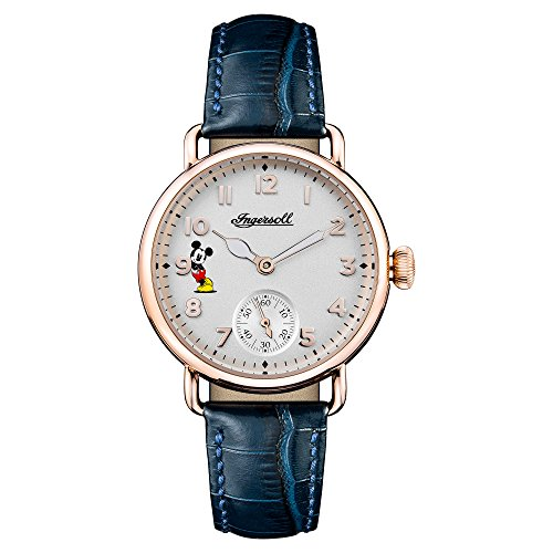 Ingersoll Disney Women's The Trenton Union Quartz Watch with White Dial and Blue Leather Strap ID00103