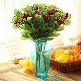 Gankmachine Beeren künstliche Blumenstrauß Kunststoff künstliche Blumenstrauß für Büro und Wohnzimmer