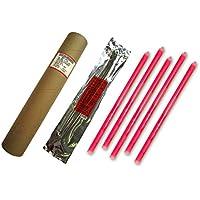 Cyalume - Paquete de 20 tubos luminosos SnapLight Non-Impact, 40 cm, 15 pulgadas, 1 Anilla, 12 horas, embalados individualmente, color rojo