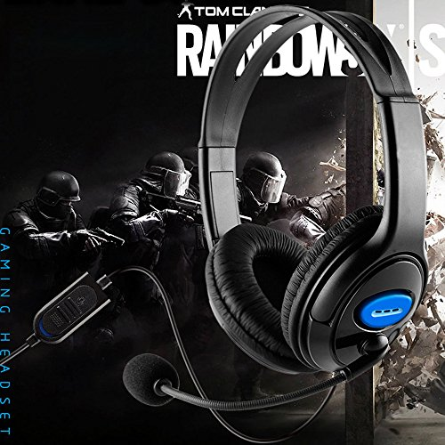Ocamo Video-Game-Headsets Stereo Wired Gaming Headset Kopfhörer mit Mikrofon für PS4 Sony Playstation 1PC