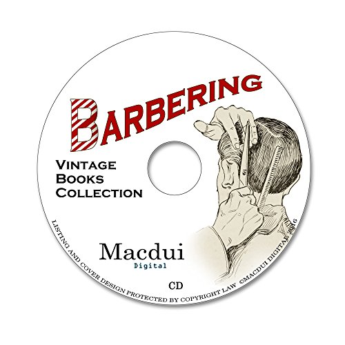 Barbering Vintage Books Collection 24 PDF E-Books on 1 CD Shaving, Cutting Hair Test
