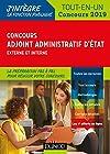 Concours Adjoint administratif d'Etat - Externe et interne - Tout-en-un - Concours 2019