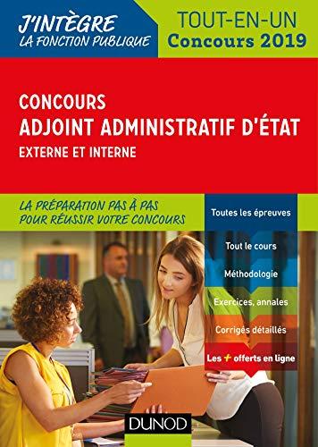 Concours Adjoint administratif d'Etat - Externe et interne - Tout-en-un - Concours 2019 par Audrey Charmont