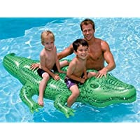 Kachhu® Easy Grip Novelty Kids Children Ride On Inflatable Toys Pool Toys Large Jumbo Crocodile Dolphin Whale Rider Ride On Beach Swimming Lilo (Jumbo Crocodile 200 x 110cm) by Impression