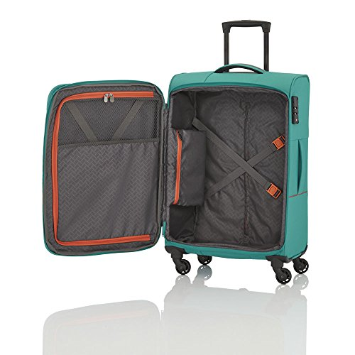 SOLARIS 4 Rad Trolley L, erweiterbar, Aqua/Orange, 88149-25 - 2