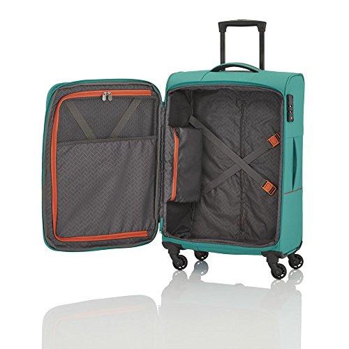 Travelite SOLARIS 4 Rad Trolley S, 88147-01 Koffer, 54 cm, 36 L, Schwarz/Limone - 2