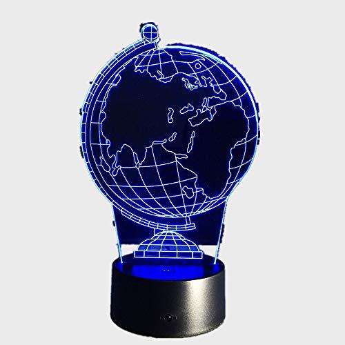 Globe Art Stereo 3d Schreibtischlampe/USB Nachtlicht/lampara Led Tischlampe/Nachttischlampe/Geschenk für KinderRemote Touch