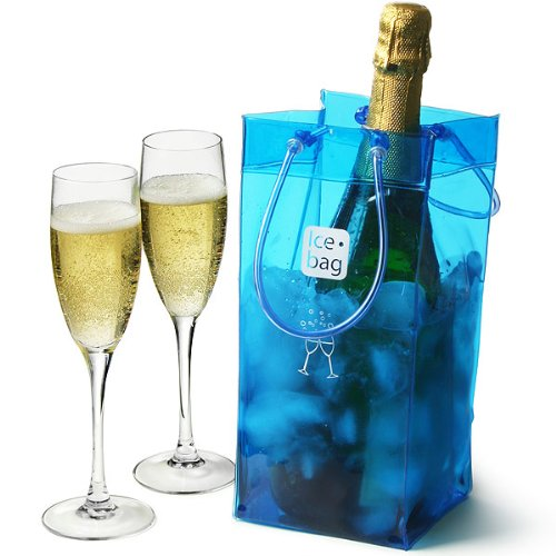 ampagner Flaschenbeutell, Blau ()