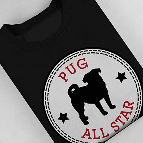 Pug All Star Women's Sweatshirt Black