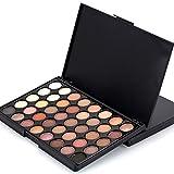 Yogogo Kosmetische Matte Lidschatten Creme Make-up Palette Schimmer Set, 40 Farbe + Pinsel Set (1#(Ohne bürsten))
