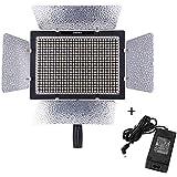 Yongnuo YN-600L 3200K~5500K 600LED Température Vidéo Studio Lumière Lamp Couleur Réglable pour Canon Nikon DSLR Caméscope + Adaptateur Distance