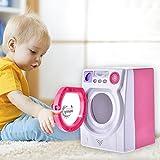 Elektronische Toy Washer Waschmaschine Kinder Lernspielzeug Mini Pretend Play Haushaltsgerät Spielzeug mit Echtem Licht und Sound