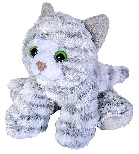 Wild Republic 18 cm Hug'ems Tabby Cat Plush Toy (Grey)