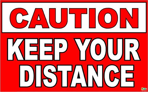 driving-school-instructor-keep-your-distance-sticker-decal-self-adhesive-vinyl-150mm-x-100mm
