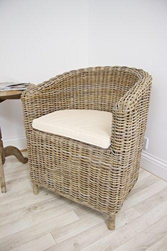 Inspiring Furniture Ltd Natural Wicker Tub Dining Chair