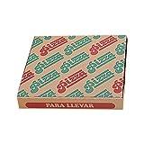 García de Pou 219.74 Cajas Pizza Microcanal Ecológicas 40 x 40 x 3.5 cm, Set de 100, Marrón