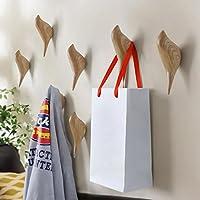 YiZYiF 3D Bird Shape Wall Hooks Cute Creative Hanging Single Hooks Wall Mounted Door Hook Coat Hooks Storage Rack Resin Home Decoration