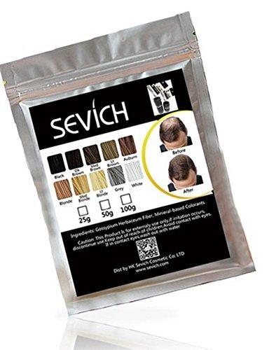 SEVICH - Haarauffüller - Streuhaar - Schütthaar - Haarverdichtung / 10 Farben in 25g und 50g sofort lieferbar! hier (50g, mittelbraun)