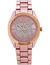 SO & CO New York SoHo Women's Quartz Watch with Pink Dial Analogue Display and Pink Stainless Steel Bracelet 5096A.4