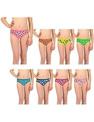 Pack de braguitas para niña (3 – 6 – 12 unidades) mod. LUCY – Ropa interior infantil mws1842/122 (PACK 12 - TALLA 5/7 AÑOS)