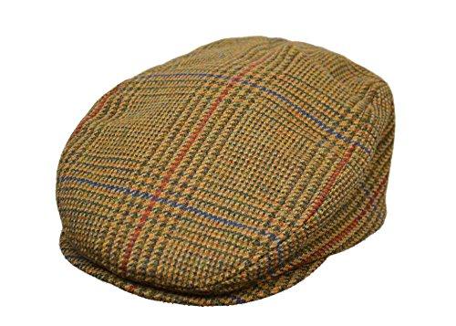 Crown Gap Schottischer Tweed Ivy Cap, Unisex, Gold Glen Check