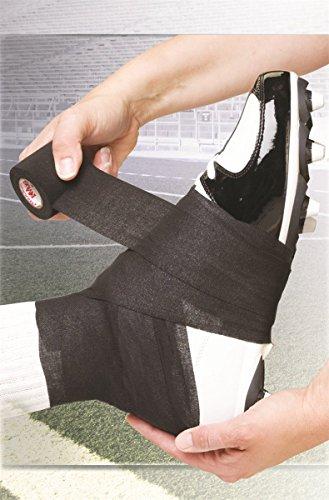MUELLER Spatting Tape, leichtes, elastisches Krepp-Tape, schwarz, 7,5cm x 7m (Aid-stick Dressing)
