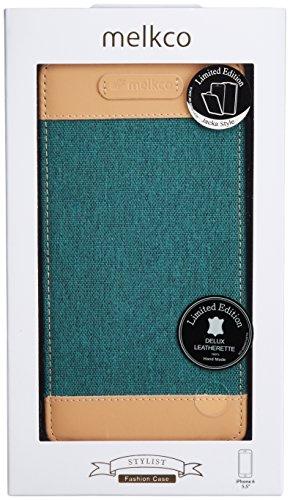Melkco Jacka type Ledertasche für Apple iPhone 6 schwarz Blau
