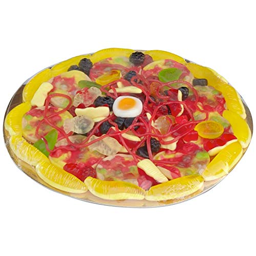 Look O Look Candy Pizza - Kreation aus Fruchtgummi und Schaumzucker im original Pizzakarton, 435 g