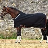 Horseware Rambo Airmax Kühler Teppich Mit Disc-Verschluss 145cm Black/Tan, Orange & Black