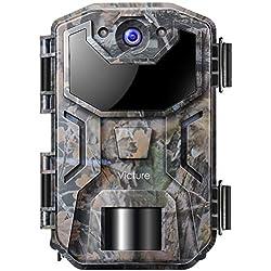 Victure Caméra de Chasse 16MP 1080P HD avec Conception à Coquille Étanche Pas de Lumière Caméra de Surveillance avec Vision Nocturne Infrarouge Activée par Le Mouvement pour L'observation de la Faune