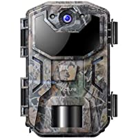 Victure Caméra de Chasse Infrarouges Surveillance 16MP 1080P HD Vision Nocturne Étanchéité à la Norme IP66, 38 Capteurs LED de 940nm, Activé par Le Mouvement pour Observer la Faune