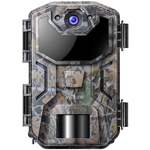 Victure Wildkamera 20MP 1080P Full HD Leichtes Glühen Infrarot Nachtsicht Überwachungskamera mit Bewegungsmelder und Upgrade IP66 Wasserdichtes Design für Jagd, Überwachung von Eigentum und Tieren
