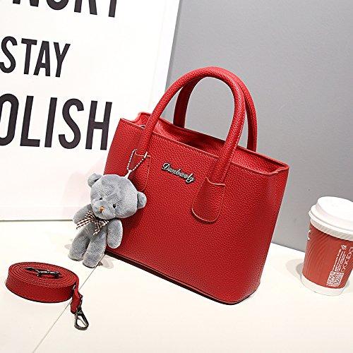LiZhen il nuovo piccolo pacchetto Lai Chi tattoo Ladies borse messenger semplice piccolo pacchetto Mini borsa pacchetto eleganti camere singole borse tracolla, grigio scuro Vino rosso