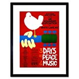 Music Concert Woodstock Peace Dove Love Legend Frame Art