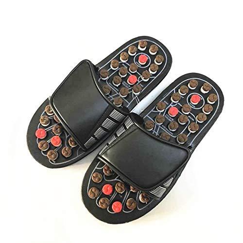 WILRND Rotación de Primavera Punto Suave Zapatillas de Masaje chismes Salud Masaje Zapatos (Size : 40/41)