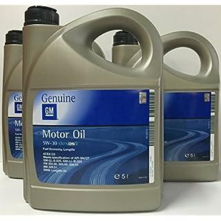 4x 5L 5 Liter ORIGINAL OPEL GM MOTORÖL 5W-30 dexos2 Longlife 5W30 ÖL - 1942003