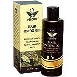 peecure Onion Oil for hair Treatment with Argan and Jojoba Oil, Bhringraj, Shea Butter, 200ml