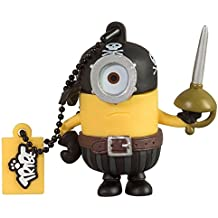 Tribe Los Minions Despicable Me Eye Matie - Memoria USB 2.0 de 8 GB Pendrive Flash Drive de goma con llavero, multicolor