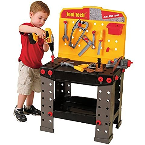 CP Toys Pretend Play Plastic Tool Tech Workbench with Tools & Accessories/ 148 pc. Set by Constructive Playthings