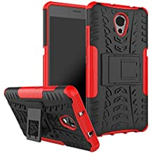 Prime Retail Lenovo P2 Hybrid Armor Back Cover Case with Kickstand Wheel Pattern for Lenovo P2(Red)