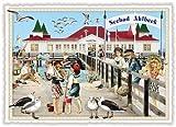 Nostalgische Ansichtskarte mit Glitzer * Seebad Ahlbeck