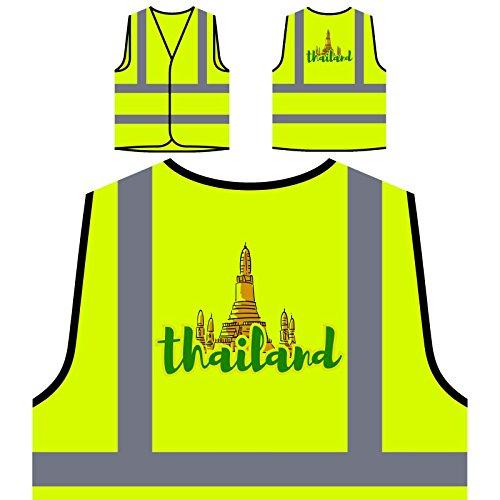 Preisvergleich Produktbild Thailand Urlaub Reise Die Welt Personalisierte High Visibility Gelbe Sicherheitsjacke Weste b330v