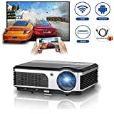 caiwei LED Android Wireless Projector with DVB-T2HDMI TV Tuner Built-in Wi-Fi Home Cinema Theatre Projectors 3800lumen supporto 1080P HD for Smartphone Tablet Laptop PS3USB Drive DVD