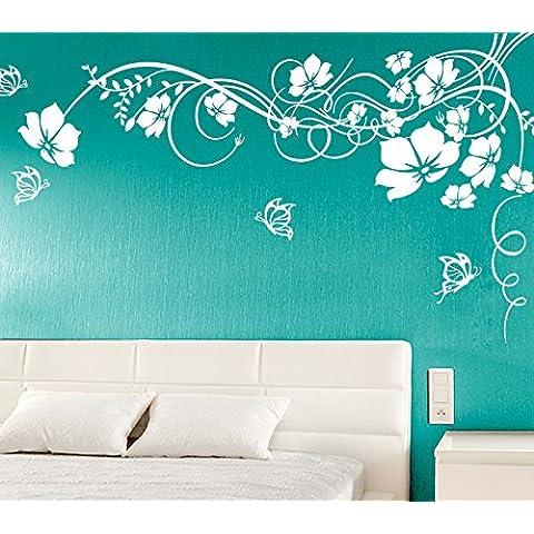 Adesivo da parete Raviolo E020adesivo da parete fiori viticci con
