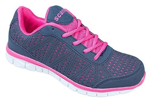Gibra ® femme, très léger et confortable, gris/rose-taille 36 Gris - Gris/rose