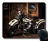 Custom Amazing Mauspad mit Harley Davidson Motorrad Stil rutschfestem Neopren Gummi Standard Größe 22,9cm (220mm) X 17,8cm (180mm) X 1/20,3cm (3mm) Desktop Mousepad Laptop Mousepads bequem Computer Mauspad