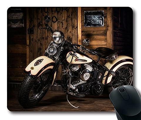 Custom Amazing Mauspad mit Harley Davidson Motorrad Stil rutschfestem Neopren Gummi Standard Größe 22,9cm (220mm) X 17,8cm (180mm) X 1/20,3cm (3mm) Desktop Mousepad Laptop Mousepads bequem Computer (Laptops Desktop-computer)