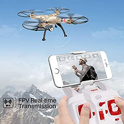 Syma X8HW Live FPV RC Quadrocopter Drone With HD Camera Headless Height Adjustment Golden